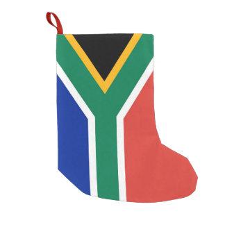 Bota De Natal Pequena Meias do Natal com a bandeira de África do Sul
