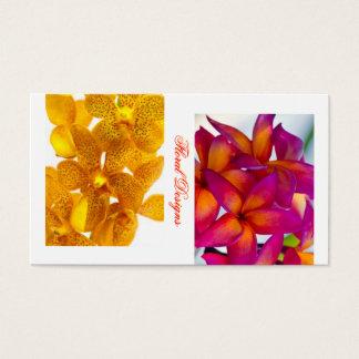 Botânica do design floral cartão de visitas