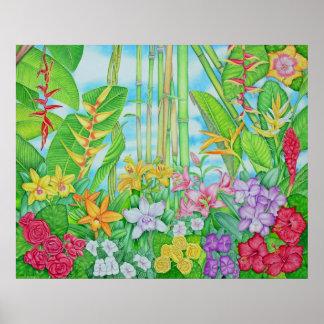 Botânico tropical pôster