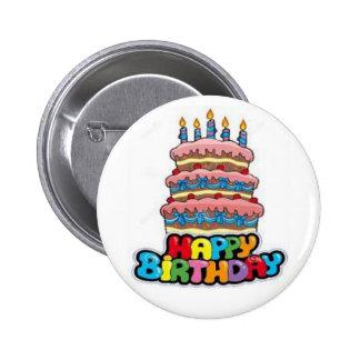 Botão 1 do feliz aniversario bóton redondo 5.08cm