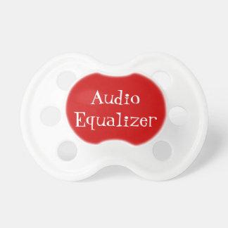 Botão audio do equalizador chupeta
