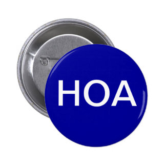 Botão azul da associação dos proprietários de casa boton