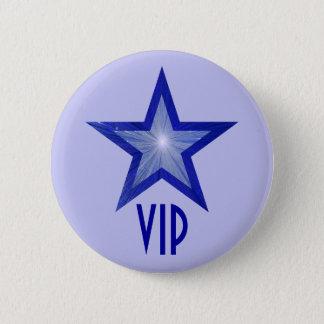 """Botão azul escuro da estrela """"VIP"""" azul pálido Bóton Redondo 5.08cm"""
