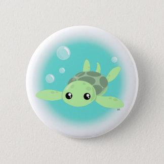 Botão bonito da tartaruga de mar bóton redondo 5.08cm