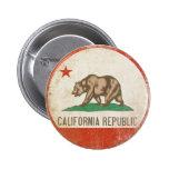 Botão com a bandeira afligida da república de Cali Boton