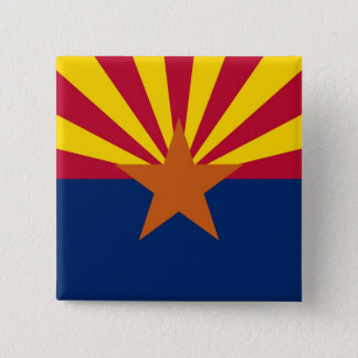 Botão com a bandeira da arizona bóton quadrado 5.08cm