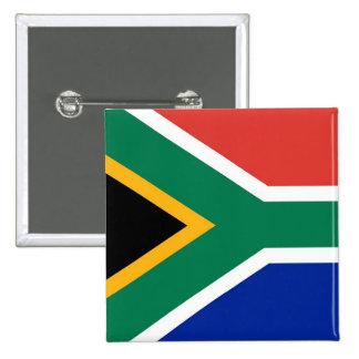 Botão com a bandeira de África do Sul Bóton Quadrado 5.08cm
