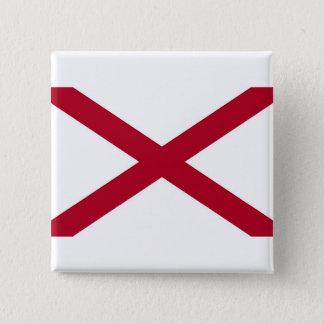 Botão com a bandeira de Alabama Bóton Quadrado 5.08cm
