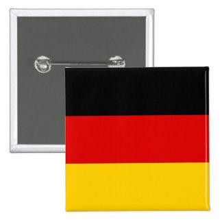 Botão com a bandeira de Alemanha Bóton Quadrado 5.08cm