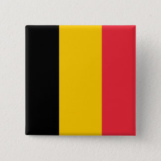 Botão com a bandeira de Bélgica Bóton Quadrado 5.08cm
