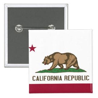 Botão com a bandeira de Califórnia Bóton Quadrado 5.08cm