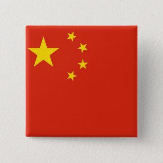 Botão com a bandeira de China Bóton Quadrado 5.08cm