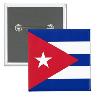 Botão com a bandeira de Cuba Bóton Quadrado 5.08cm