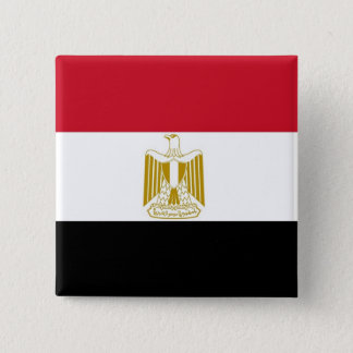 Botão com a bandeira de Egipto Bóton Quadrado 5.08cm