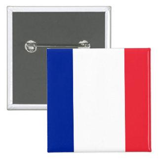 Botão com a bandeira de France Bóton Quadrado 5.08cm