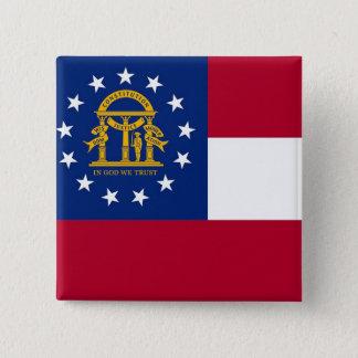 Botão com a bandeira de Geórgia Bóton Quadrado 5.08cm