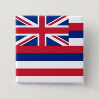 Botão com a bandeira de Havaí Bóton Quadrado 5.08cm