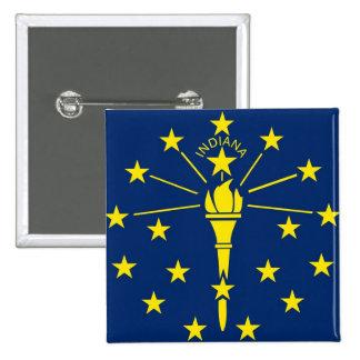 Botão com a bandeira de Indiana Bóton Quadrado 5.08cm