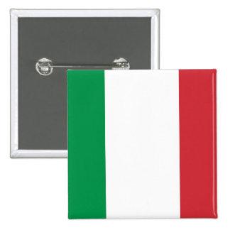 Botão com a bandeira de Italia Bóton Quadrado 5.08cm