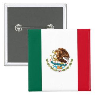 Botão com a bandeira de México Bóton Quadrado 5.08cm