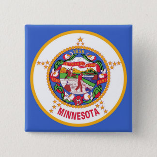 Botão com a bandeira de Minnesota Bóton Quadrado 5.08cm