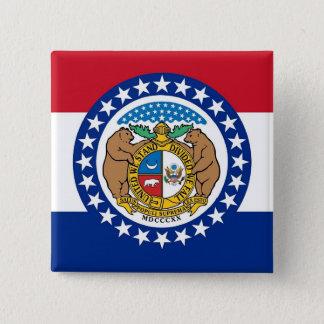 Botão com a bandeira de Missouri Bóton Quadrado 5.08cm