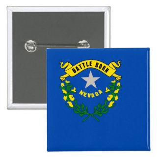 Botão com a bandeira de Nevada Bóton Quadrado 5.08cm