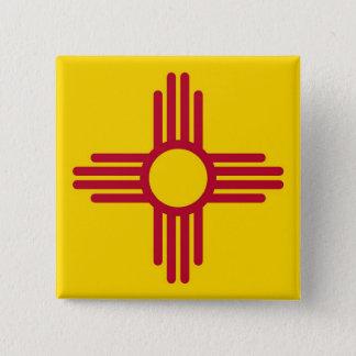 Botão com a bandeira de New mexico Bóton Quadrado 5.08cm