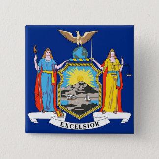 Botão com a bandeira de New York Bóton Quadrado 5.08cm