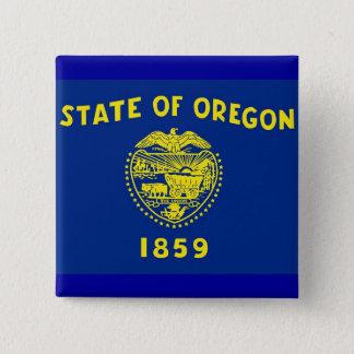 Botão com a bandeira de Oregon Bóton Quadrado 5.08cm