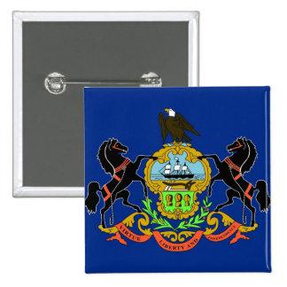 Botão com a bandeira de Pensilvânia Bóton Quadrado 5.08cm