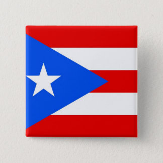 Botão com a bandeira de Puerto Rico Bóton Quadrado 5.08cm