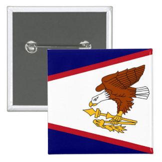 Botão com a bandeira de Samoa Americanas Bóton Quadrado 5.08cm