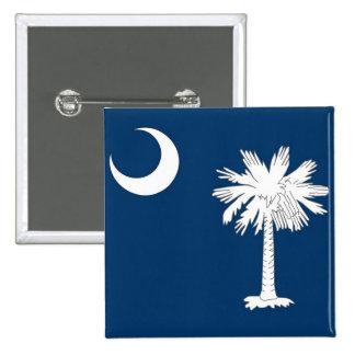 Botão com a bandeira de South Carolina Bóton Quadrado 5.08cm