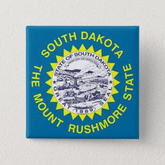 Botão com a bandeira de South Dakota Bóton Quadrado 5.08cm