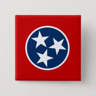 Botão com a bandeira de Tennessee Bóton Quadrado 5.08cm
