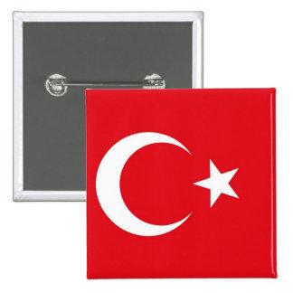 Botão com a bandeira de Turquia Bóton Quadrado 5.08cm