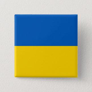 Botão com a bandeira de Ucrânia Bóton Quadrado 5.08cm