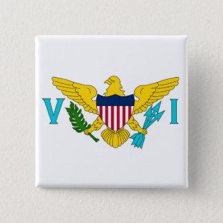 Botão com a bandeira de Virgin Islands - EUA Bóton Quadrado 5.08cm