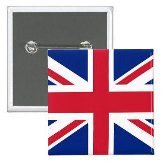 Botão com a bandeira do Reino Unido Bóton Quadrado 5.08cm