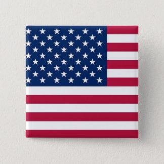 Botão com a bandeira dos EUA Bóton Quadrado 5.08cm
