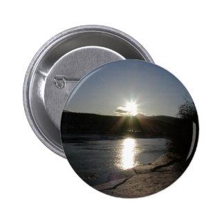 botão com a foto do Rio Yukon Bóton Redondo 5.08cm
