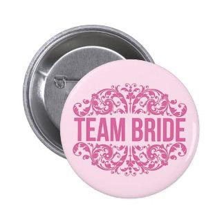 Botão cor-de-rosa do casamento do botão da noiva bóton redondo 5.08cm