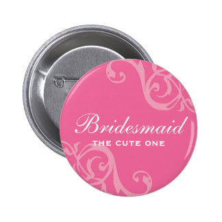 Botão cor-de-rosa do pino do crachá do nome de eti bóton redondo 5.08cm