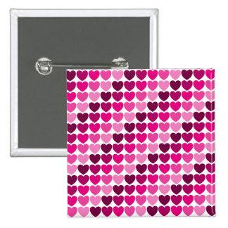 Botão cor-de-rosa dos corações pins