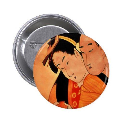 Botão/crachá do casal do japonês pins