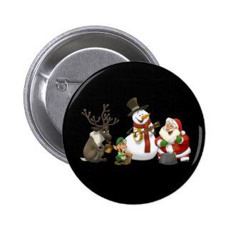 Botão da banda de jarro do Natal Bóton Redondo 5.08cm