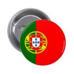 Botão da bandeira de Portugal Bóton Redondo 5.08cm