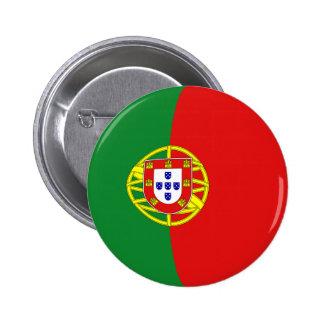 Botão da bandeira de Portugal Fisheye Bóton Redondo 5.08cm