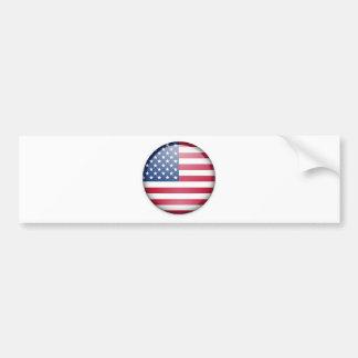 Botão da bandeira dos EUA Adesivo Para Carro